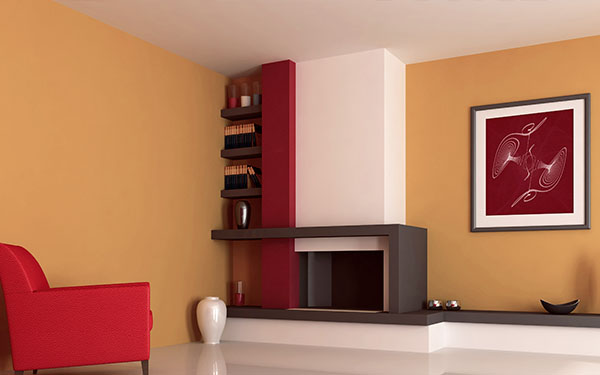 The combination of different shades of red is extremely harmonious and provides warmth and energy.