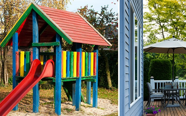 Children's toy towers, wooden cladding and balconies radiate in new splendour after upgrading with ADLER.